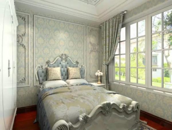 次卧采用的是清新的色调,没有过多的设计,利用软装来达到温馨的即视感,大大的窗户使本来空间并不大的卧室显得通透明亮。