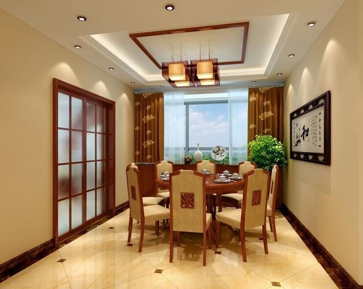 中式 现代 大地之春 装修 餐厅图片来自贵阳大地装饰在160m²中式风格(中天未来方舟)的分享