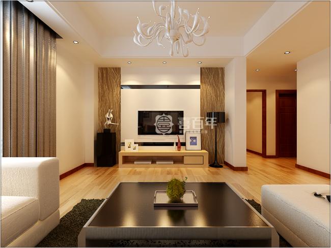 现代 三居 白领 80后 客厅图片来自贵州喜百年装饰工程有限公司在【陈曾一】现代风格案例的分享