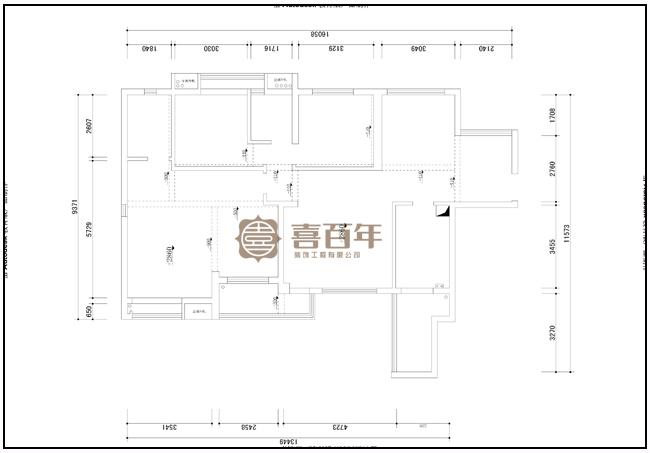 现代 三居 白领 80后 户型图图片来自贵州喜百年装饰工程有限公司在【陈曾一】现代风格案例的分享