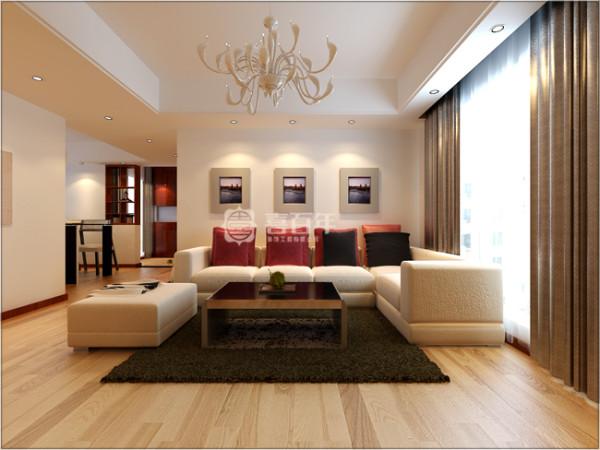 在家具的配饰上都是已米白色为主。