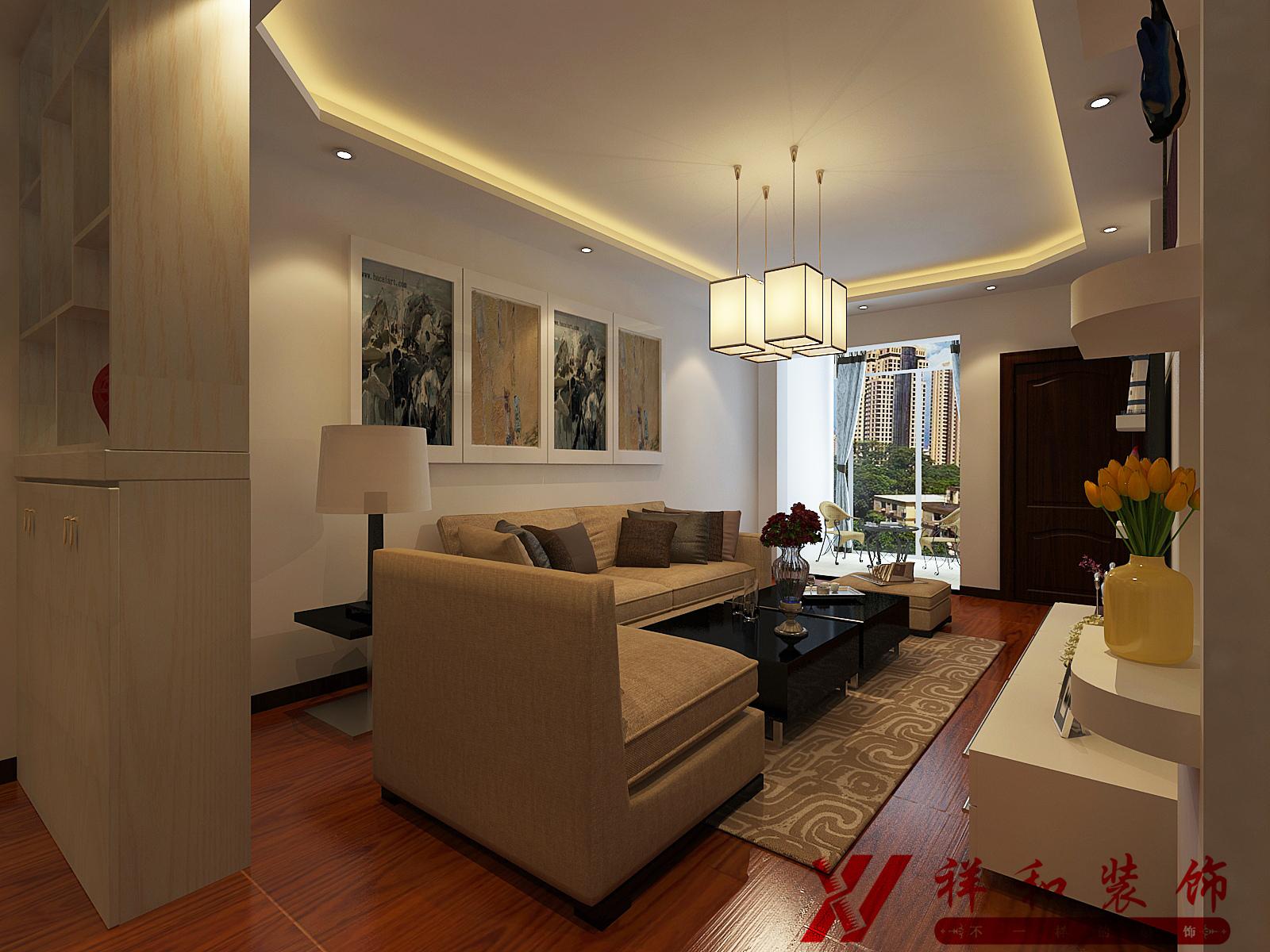 混搭 三居 80后 中式 客厅图片来自贵阳祥和装饰在【花果园】T1区10栋1单元1808号的分享
