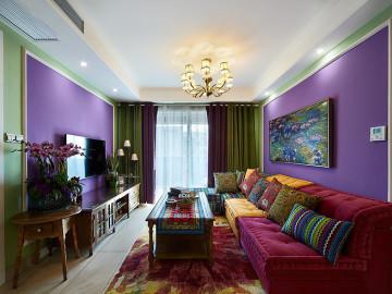奇妙色彩搭配 令人难忘95平美宅
