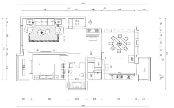 沈阳新翡翠花园300平米别墅户型图