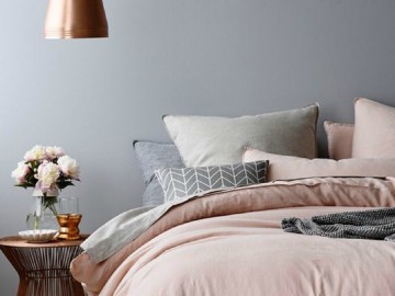 粉色与灰色的完美搭配