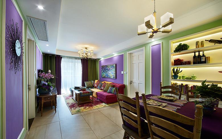 客厅图片来自家装大管家在奇妙色彩搭配 令人难忘95平美宅的分享