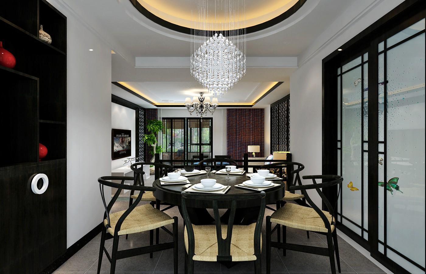 餐厅图片来自贵州城市人家装饰在144m²现代简约风格(花果园)的分享