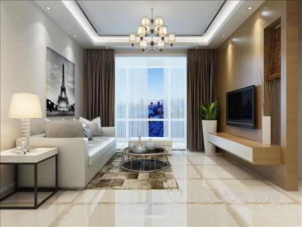 洛阳名仕嘉园130平三室两厅装修现代效果图——客厅全景效果图