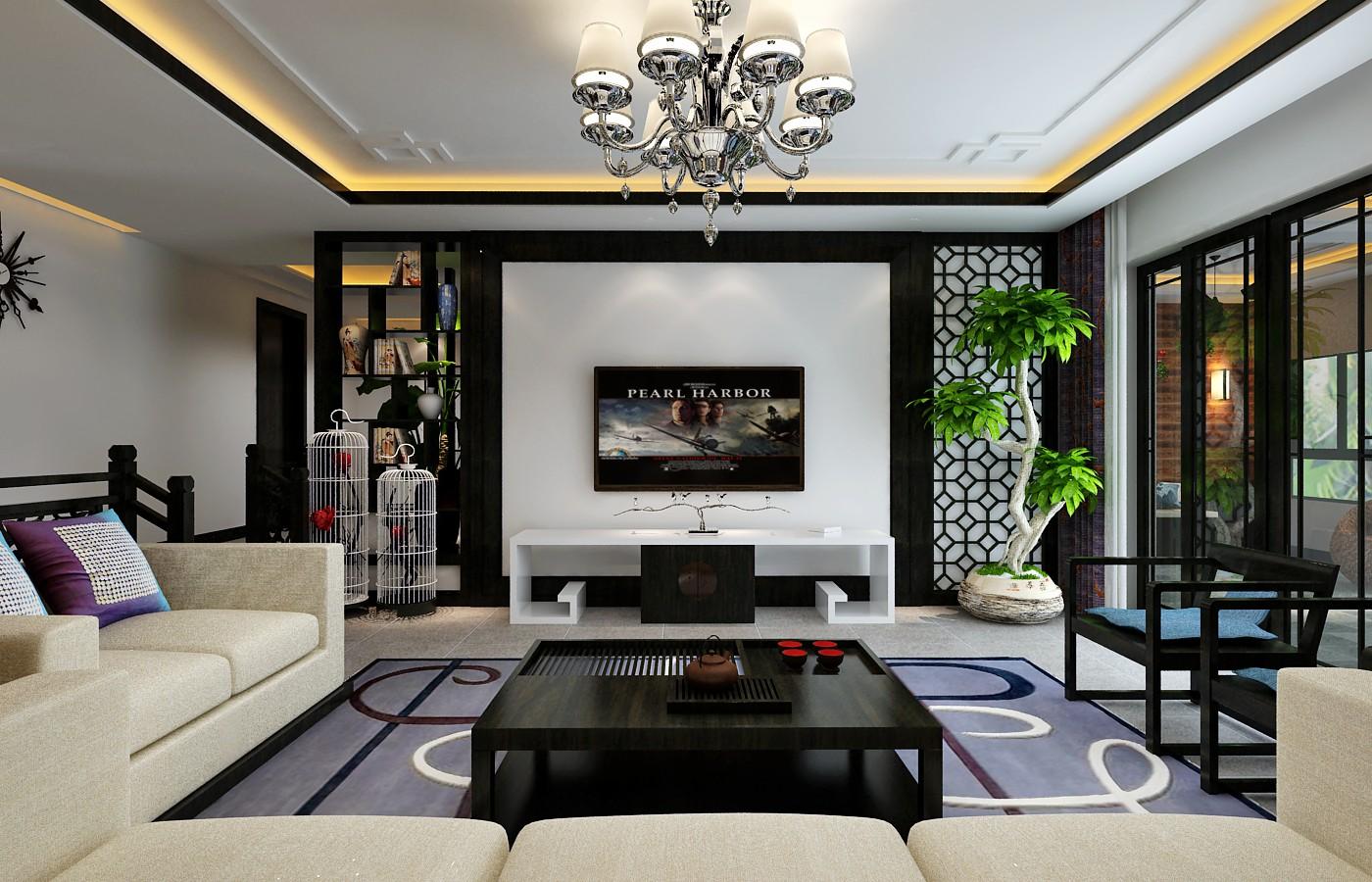 客厅图片来自贵州城市人家装饰在144m²现代简约风格(花果园)的分享