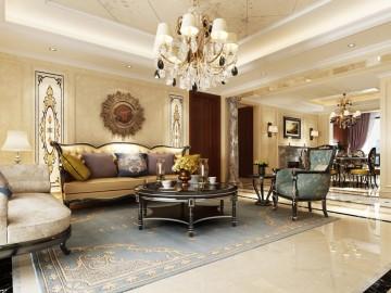 凤凰城大平层欧式新古典装修设计