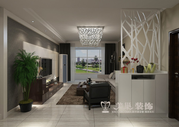 洛阳名仕嘉园三室两厅120平居室户型设计效果图