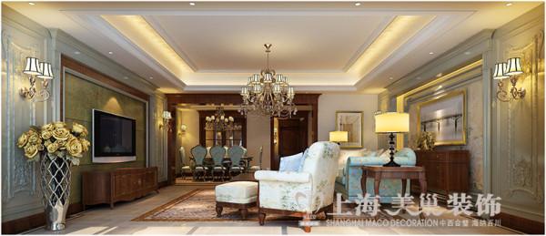 永威翡翠城320平复式五室两厅装修样板间效果图