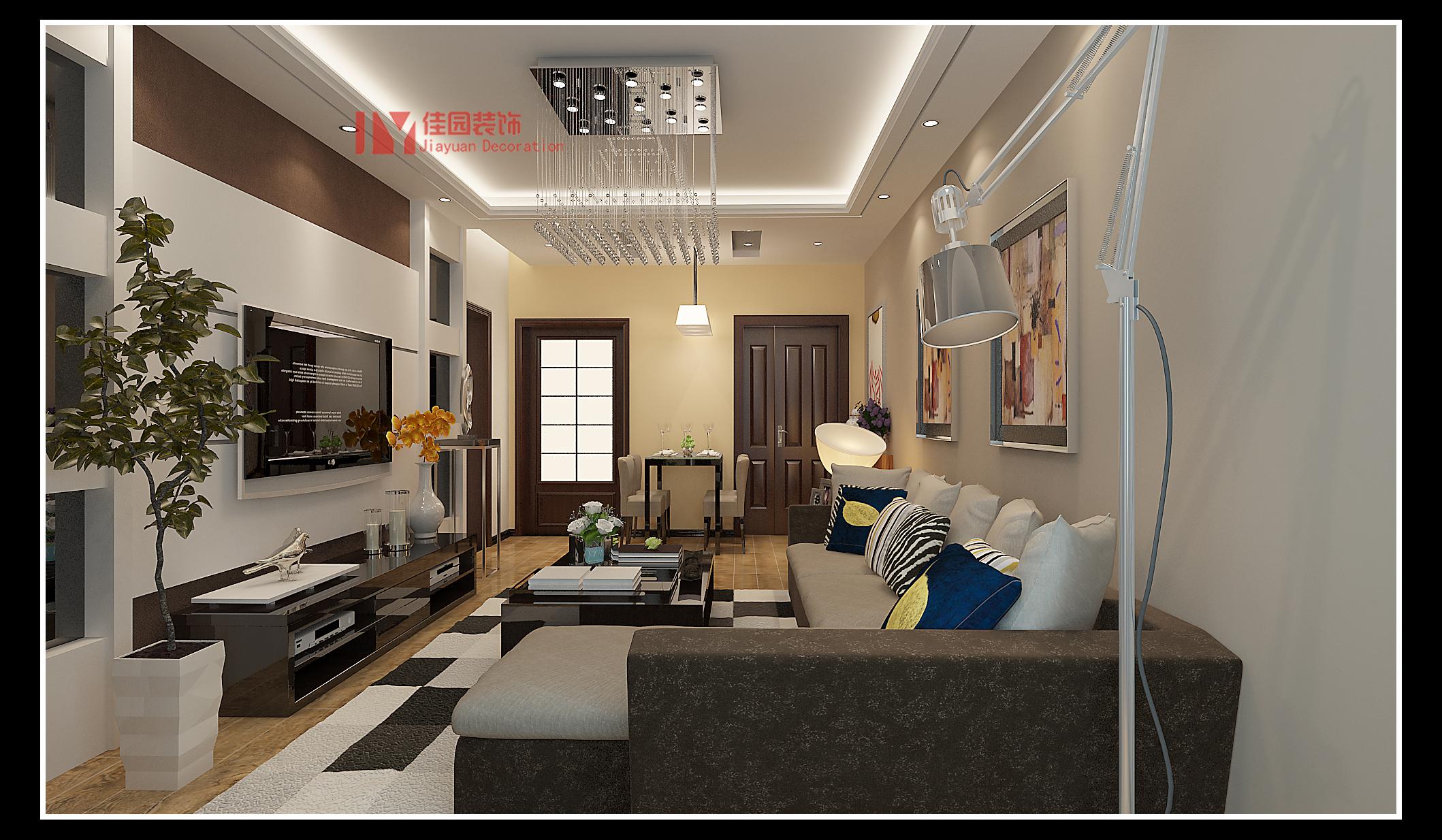 简约 客厅图片来自佳园装饰在蒙特卡尼70平米简约风格装修案例的分享