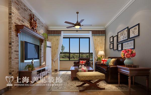 郑州蓝堡湾两室两厅86平地中海风格装修效果图