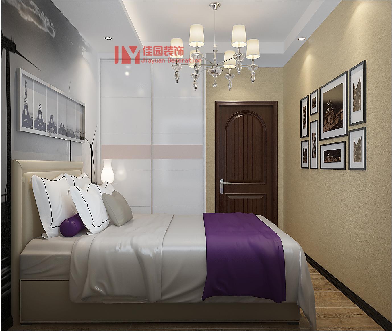 简约 卧室图片来自佳园装饰在蒙特卡尼70平米简约风格装修案例的分享