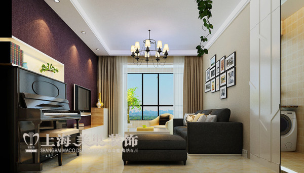 天骄华庭两室两厅88平现代简约风格装修效果图