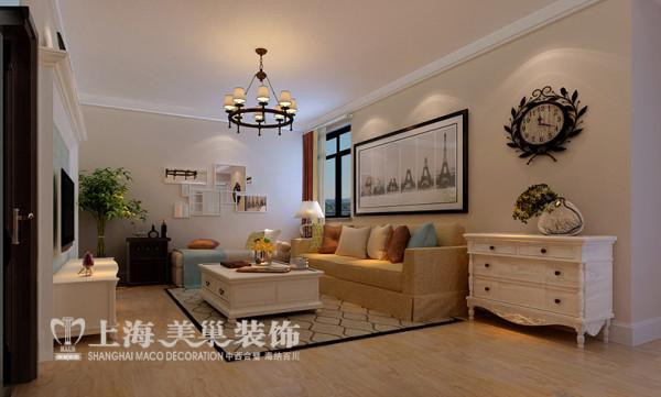 升龙又一城两室两厅86平地中海风格装修效果图