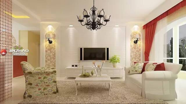 客厅图片来自山西今朝装饰小闫在夏天到了,给家换个色彩的分享
