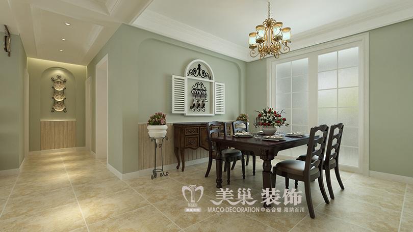 简约 小资 美式装修 餐厅图片来自河南美巢装饰在开封家属院170平方五室美式乡村的分享