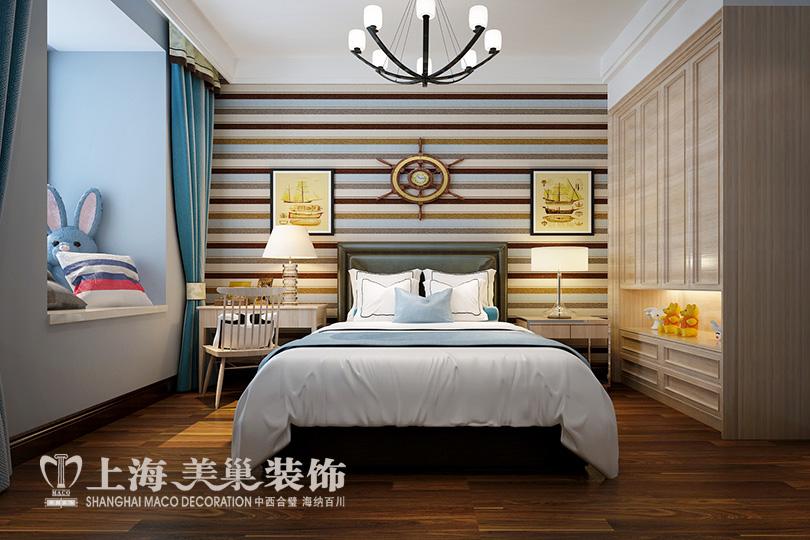 简约 小资 四居室装修 卧室图片来自河南美巢装饰在农大家属院170平方简约风效果图的分享
