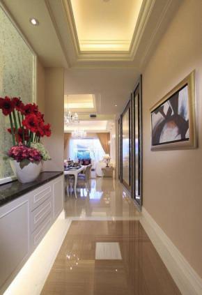 简约 欧式 新古典 四居室 白领 80后 小资 华侨城东岸 玄关图片来自成都V2装饰在净白奢华 欧式新古典居家的分享