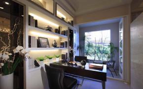 简约 欧式 新古典 四居室 白领 80后 小资 华侨城东岸 书房图片来自成都V2装饰在净白奢华 欧式新古典居家的分享