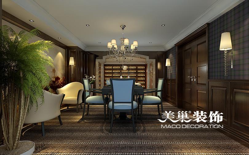 别墅 餐厅图片来自河南美巢装饰在思念果岭520平别墅新古典样板间的分享