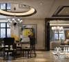 银河丹堤280平方五室两厅港式风格装修效果图