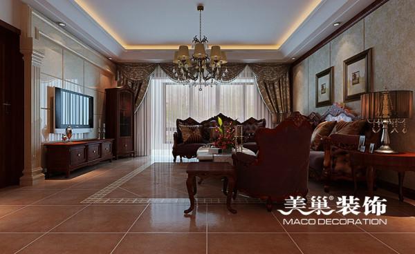 郑州航院家属院120平三室两厅装修简欧效果图