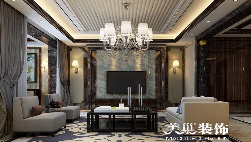 简约 港式装修 客厅图片来自河南美巢装饰在银河丹堤280平五室装修效果图的分享