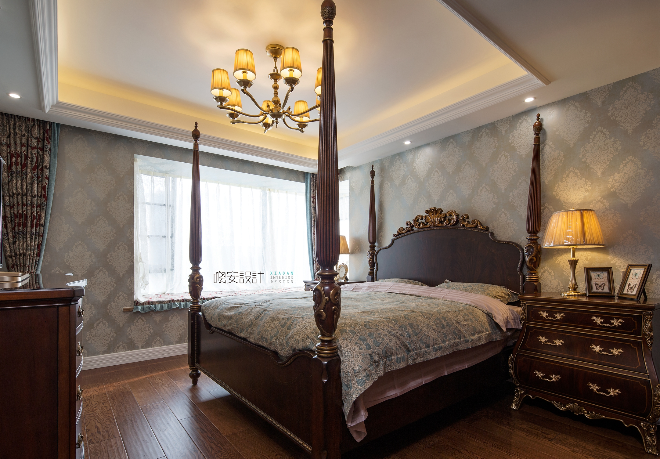 80后 美式 卧室图片来自周晓安在世贸运河城的分享