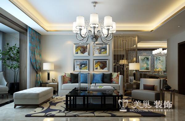 建业龙城装修设计案例效果图展示三室两厅140平北欧风格设计