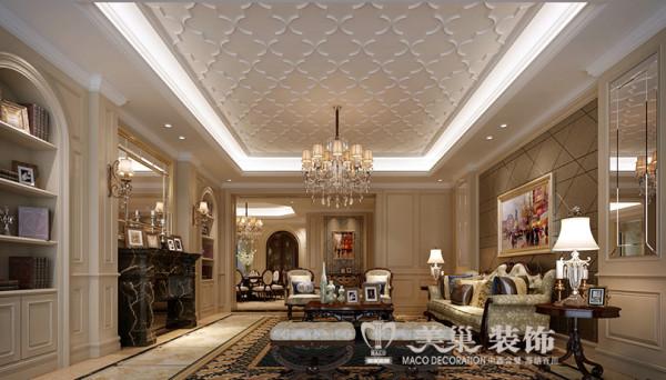 昌建誉峰简欧风格装修效果图展示四室两厅140平居室设计