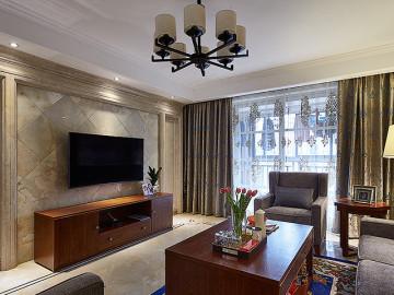 时光温度 135平美式新古典3居室