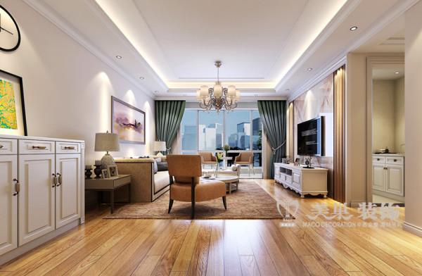 维也纳森林四室两厅装修简欧140平样板间效果图
