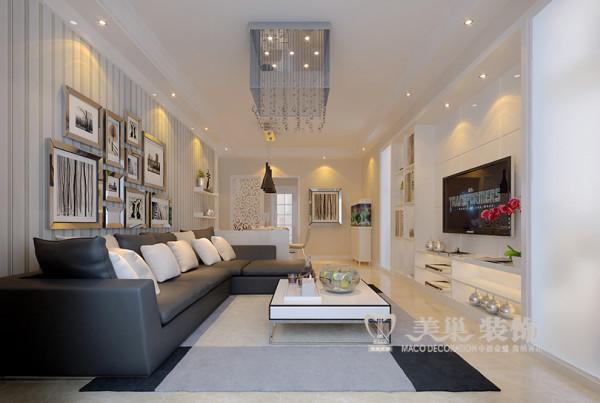 银行家属院现代简约风格设计100平居室三室两厅户型