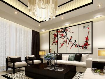 曲江海德堡-三居室-新中式