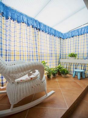地中海 田园 复式 混搭 白领 旧房改造 小资 客厅 阳台图片来自沙漠雪雨在140平地中海田园混搭浪漫复式楼的分享