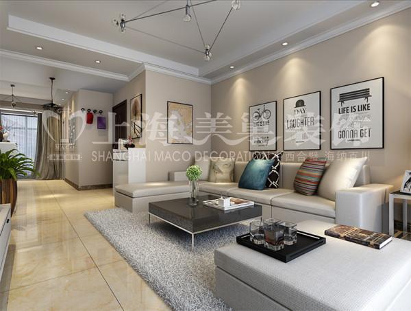 东润朗郡现代装修140平三室两厅样板间效果图