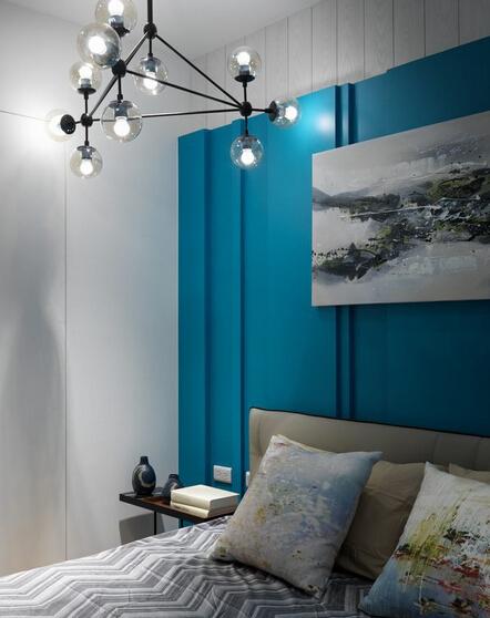 混搭 色彩 差异 卧室图片来自深圳柠檬树装饰设计工程有限公司在冲突体现空间美的分享