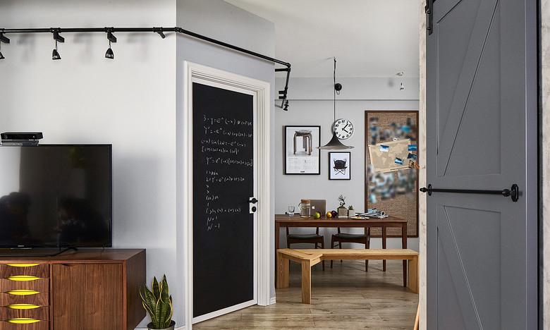 餐厅图片来自家装大管家在简约线条 82平自然现代工业风家的分享