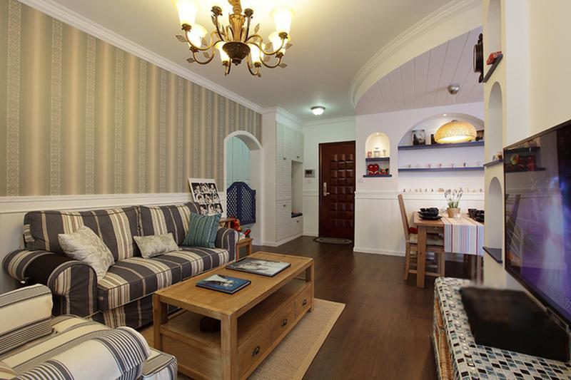 客厅图片来自今朝装饰张智慧在70平婚房混搭风格的分享
