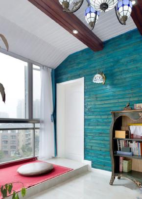 地中海 二居 白领 收纳 猫舍 阳台图片来自武汉苹果装饰在猫舍—不一样的蓝与白的分享