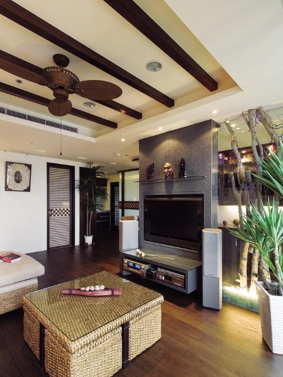 东南亚 二居 收纳 白领 简约 质感 客厅图片来自武汉苹果装饰在猫舍—浓浓东南亚的分享