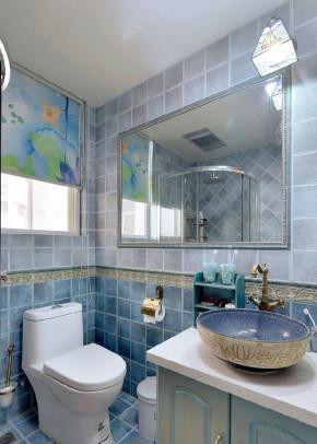 地中海 二居 白领 收纳 猫舍 卫生间图片来自武汉苹果装饰在猫舍—不一样的蓝与白的分享