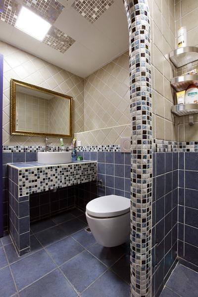 卫生间图片来自今朝装饰张智慧在70平婚房混搭风格的分享