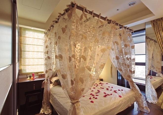 东南亚 二居 收纳 白领 简约 质感 卧室图片来自武汉苹果装饰在猫舍—浓浓东南亚的分享
