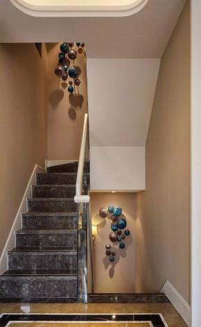 别墅 新古典 装修案例 楼梯图片来自一道伍禾装饰在远洋天著新古典设计的分享
