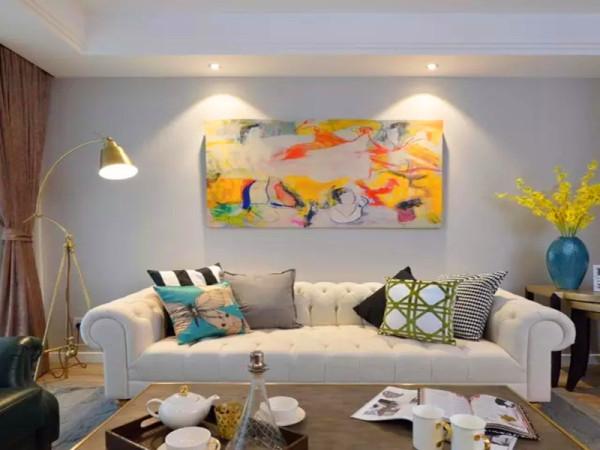简约的手法,摒弃复杂的造型,选用美式和新古典风格的家具来表现风格。