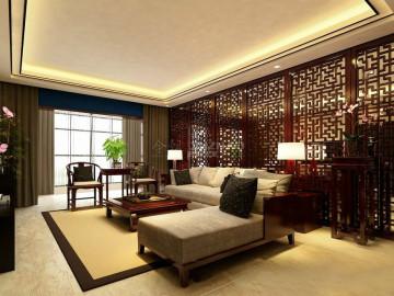 金辉世界城112三居室新中式风格